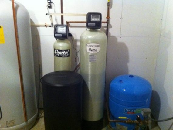 Water treatment system installation by Samuelson Laney Plumbing Heating and Cooling Inc.